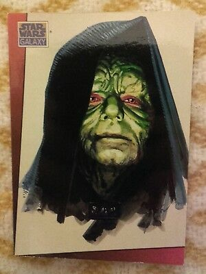 Star Wars Galaxy.  1993 The Emperor Palpatine. card Topps. Trading card. artwork