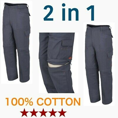 ISSA STRIP 2 in 1 Mens Combat Cargo Work Trousers or Shorts Size  S, M, L, XL