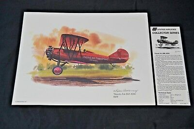 Nixon Galloway Print United Airlines Collector Series Travel Air BM-4000