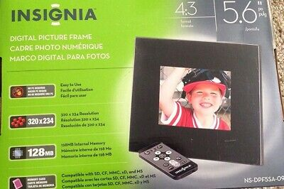 """Insignia 5.6"""" 4:3 Digital Photography Picture Frame NS-DPF5SA-09 - NEW - FREE SH"""