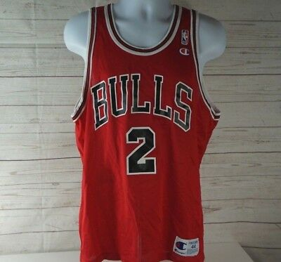 11bd45b0f Vintage Chicago Bulls Eddy Curry #2 Red Champion NBA Jersey Size 44 = LARGE