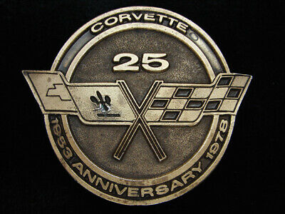 Qj13139 Vintage 1978 **Corvette 25Th Anniversary** Belt Buckle