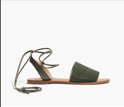 d7468eb8f54c MADEWELL BRIDGET SUEDE Leather Lace-up Sandals F1658 Size 10 ...