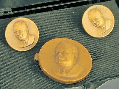 Vtg Presidential Art Medals Michael V Disalle Democrat Ohio Governor Cuff Links