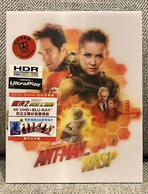 ANTMAN AND THE WASP 4K UHD + blu-ray LENTICULAR BOX w/ARTCARDS BOOKLET NEW OOS!