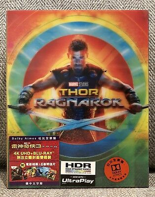 THOR RAGNAROK 4K UHD + blu-ray LENTICULAR BOX w/ARTCARDS & BOOKLET [HK] NEW MINT