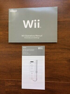 Nintendo Wii Operations Manual Channels & Settings, Wii Remote Manual Eng,Fr,Spa
