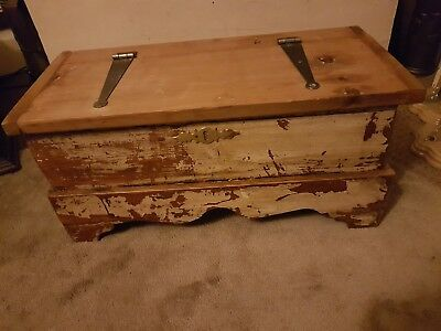 Antique Painted Pine Deed Box