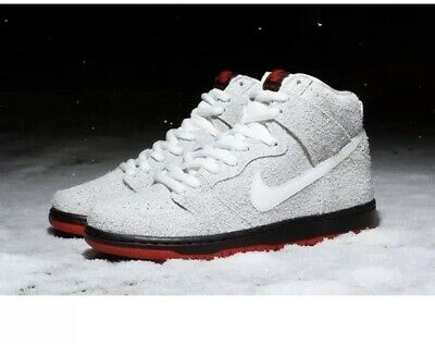 factory authentic 32c4f 4ee8b Nike SB Dunk High Black 9.5 881758 110 Wolf In Sheep s Clothing White Gray  Rare