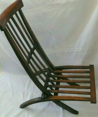 Antique Arts & Crafts/Edwardian Folding Campaign / Steamer / Deck / Lawn Chair
