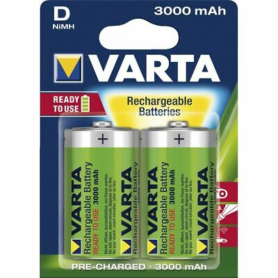 Varta Rechargeable D Batteries 2 Pack