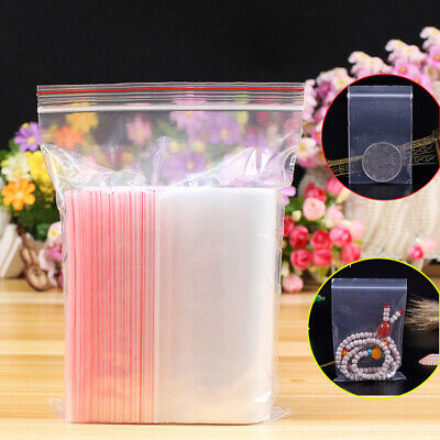PE Pouch Self Adhesive Zipper Plastic Poly Clear Ziplock Bag Jewelry Zip Bags