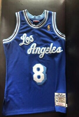 d762c8fd202 Kobe Bryant #8 Los Angeles Lakers Blue Throwback Classic Sewn Basketball  Jersey