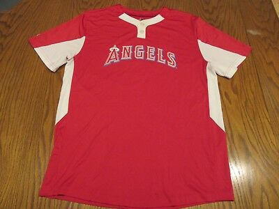 Anaheim Angels Of Los Angeles Majestic #12 Jersey-Youth Xl=Adult S/M California