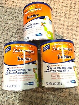 Nutramigan Toddler 12.6 Oz New 3 Cans Free Shipping