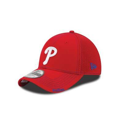 online store bdfdd 56f8a Philadelphia Phillies New Era Red Neo 39Thirty Flex Fit Hat