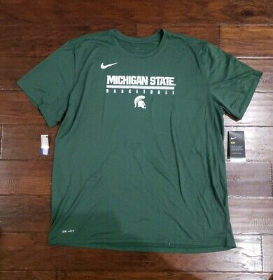 878eb9c7478 NIKE MENS MICHIGAN STATE SPARTANS BASKETBALL LEGACY PRACTICE T SHIRT Size  2XL.