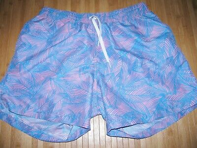 2eecb528643a1 CHUBBIES Shorts SWIMSUIT TRUNKS Size XL Polyester SWIM Suit PINK and BLUE