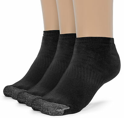 ChanPell Men's Cotton Comfort Low Cut Cushion Socks - 3 Pairs