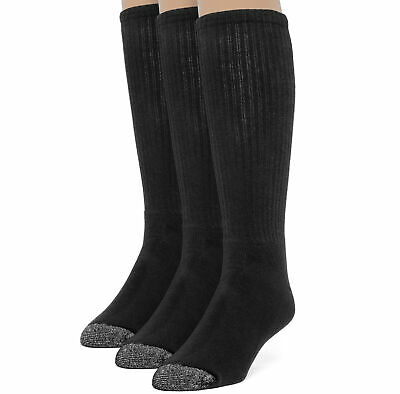 ChanPell Men's Cotton Comfort Over the Calf Cushion Socks - 3 Pairs