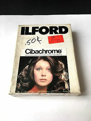 VINTAGE ILFORD CIBACHORME - 4 x 5 Paper 50 sheets CCP-A 182 U >  NEW SEALED
