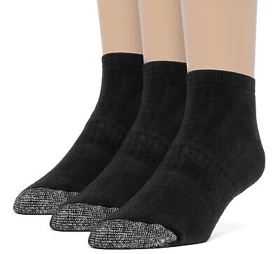 ChanPell Men's Cotton Comfort Ankle Cushion Socks - 3 Pairs