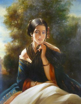 """Custom Portrait Oil Painting on Canvas 12"""" x 16"""" From Your Photo HIGH QUALITY"""