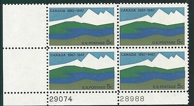 Scott 1324 - Canada Centenary - MNH - 1967 Issue - Plate Block of 4
