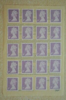 100 Purple Unfranked 1st First Class Security Stamps - Peel and Stick - Gummed