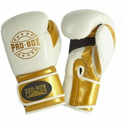 Ampro Madison MKII Hook and Loop Sparring Gloves White//Black