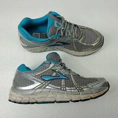3d2174c4b29 Brooks Addiction 11 Womens Running Shoes Sz 9 Gray Blue Silver Athletic  Support