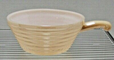Fire King Peach Lustre Oven Ware with Handle Beehive Pattern Soup/Chili Bowl