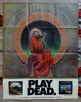 "Grateful Dead ""Play Dead"" Blues for Allah Promo Poster"
