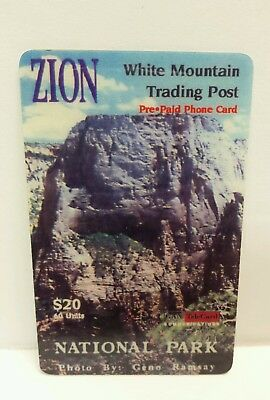 Zion National Park White Mountain Trading Post Used Pre Paid Phone Card