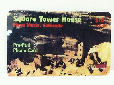 Square Tower House Mesa Verde Colorado Used Pre Paid Phone Card