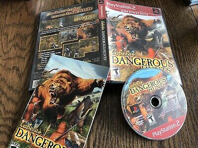 Cabela's Dangerous Hunts (Sony PlayStation 2, 2003) Greatest Hits Used Free S/H