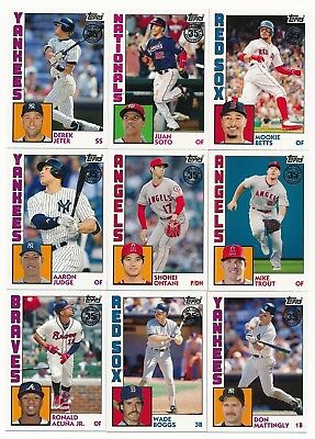 2019 Topps Series 1 1984 Insert - U Pick Choose Complete Your Set FREE SHIP