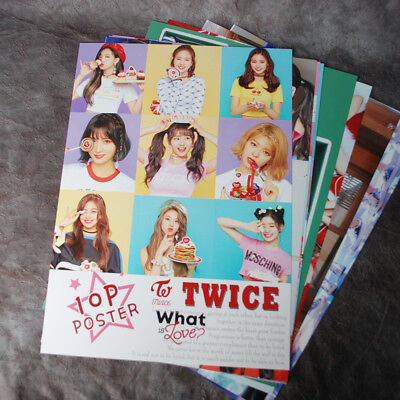 K-POP TWICE SANA MOMO MINA TZUYU 10Posters Collection Bromide (10PCS)  A4 SIZE