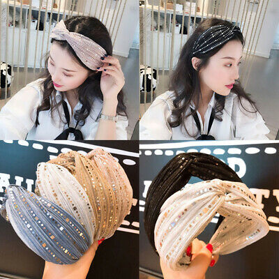 Clothing, Shoes & Accessories New Fashion Sequin Dazzling Sparkly Elastic Headband Head Hair Band Bandeuaux 80s Dance 202