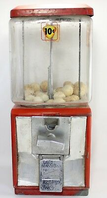 Northwestern Glass Globe 25 Cent Candy Peanut Gumball Vending Machine Vintage