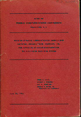 Before the Federal Commission Petition Radio Corporation of America RCA VTG TV