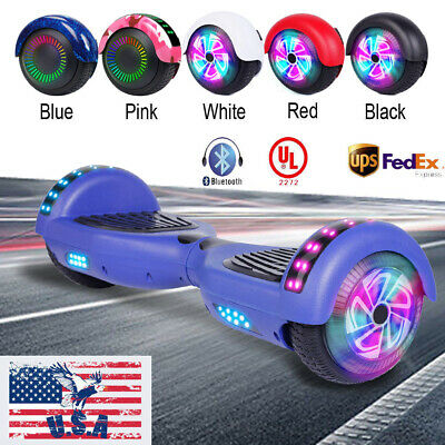 "6.5"" Hoverboard Self Balancing Wheel Electric Scooter Bluetooth LED Light UL2272"