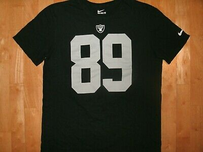 57ce4737e NFL Mens OAKLAND RAIDERS Football Black Athletic Cut Jersey Shirt Large L   89