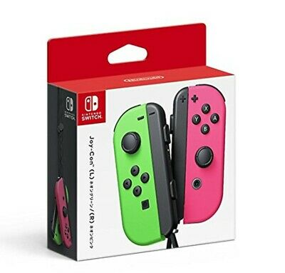 Nintendo Switch Wireless Controllers Joy-Con (L/R) Pair Neon Green and Neon Pink
