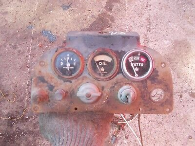 farmall 300 rc tractor dash panel w/ gauges &orig ignition key & wiring  harness