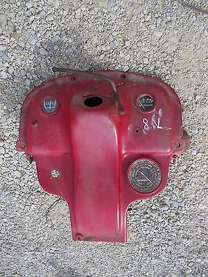 Ford 8N Tractor LATE MODEL dash assembly w/ gauges & Tachometer - key back panel
