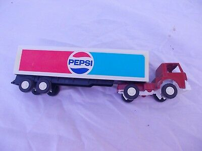 TOOTSIE TOY  PEPSI DELIVERY Semi TRUCK TRACTOR TRAILER 1970