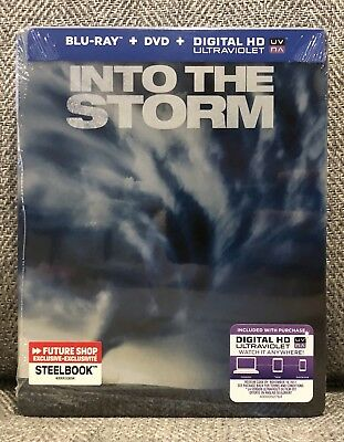 INTO THE STORM blu ray STEELBOOK FUTURE SHOP EXCLUSIVE NEW & SEALED MINT RARE!