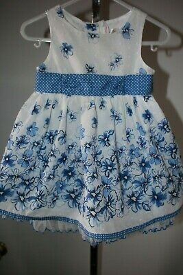 d2fd405ee Youngland Baby Girl's 18 Months Blue & White Floral Easter Dress
