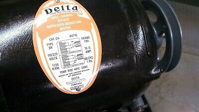 NAME PLATE DECALS  -  for vintage Delta repulsion induction motors